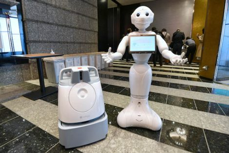 Tokyo Using ROBOTS To Cheer Up Corona Patients