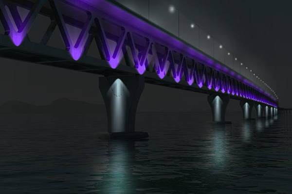 Graphical image of the Padma Bridge