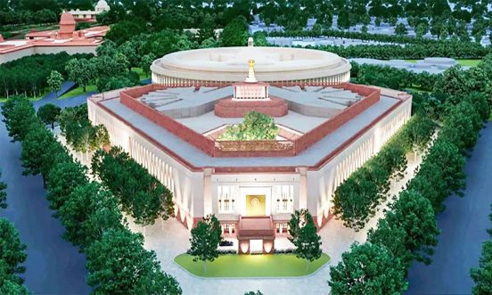 View of Indian New Parliament Building
